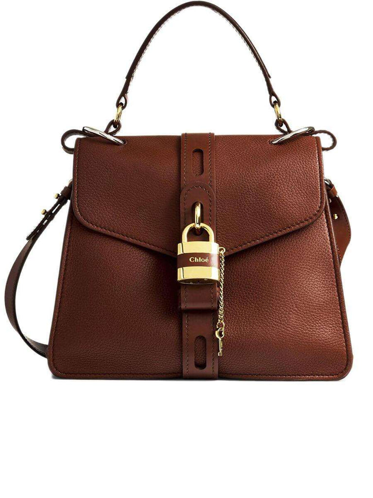 Medium Aby Day Bag in Sepia Brown Grained Leather
