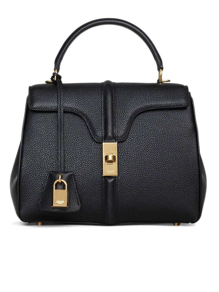 Small 16 Bag in Black Grained Calfskin