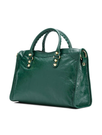 Classic City Small Shoulder Bag in Forest Green