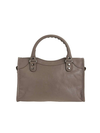 Classic City Mini Brown Leather Tote back