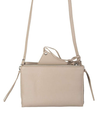 Papier Triple XS Zip Around Tapioca Beige Leather Bag