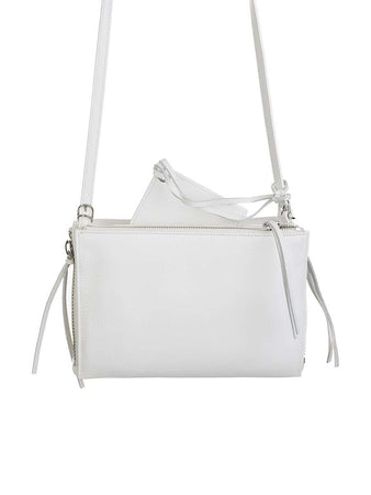 Papier Triple XS Zip Around White Leather Bag