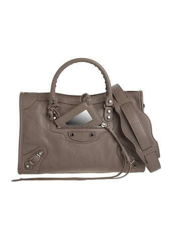 Classic City Silver S Mink Leather Tote design