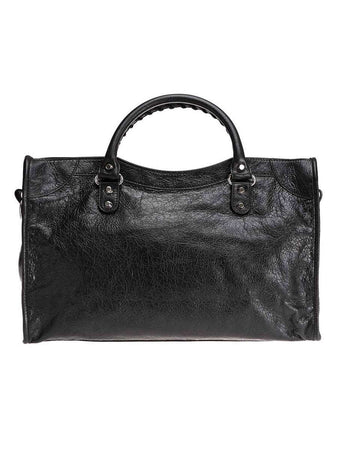 Classic City Shoulder Bag in Black Arena Lambskin back