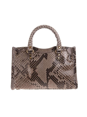 Classic Nano City Python Arena Leather Tote back