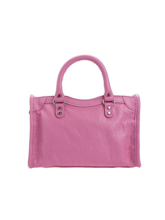 Classic Nano City Pink Leather Tote back