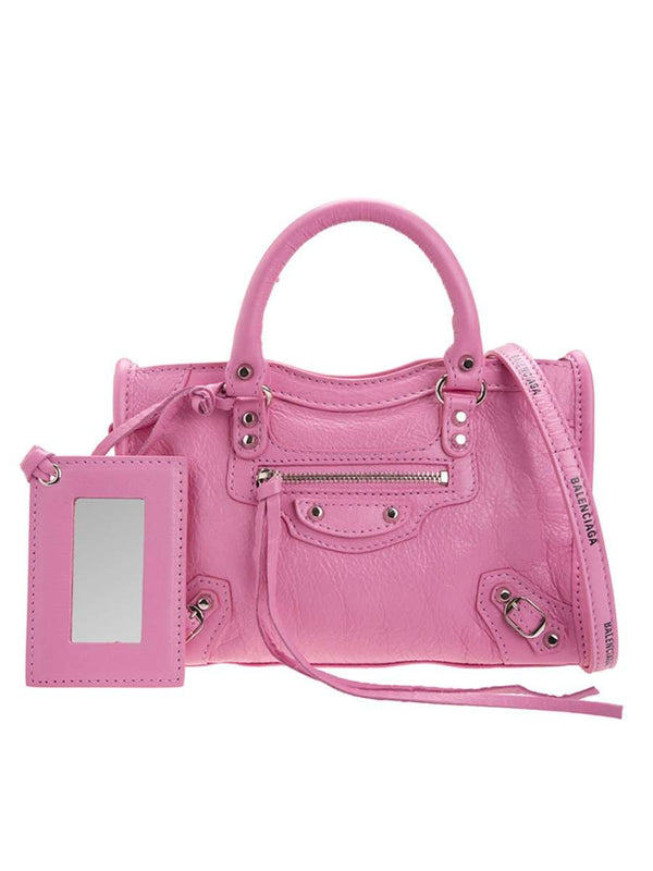 Classic Nano City Pink Leather Tote