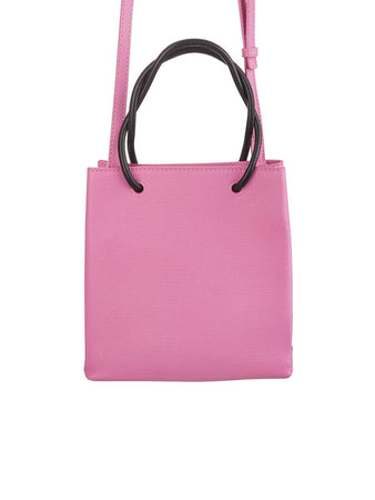 Shopping XXS Pink Grained Leather Tote