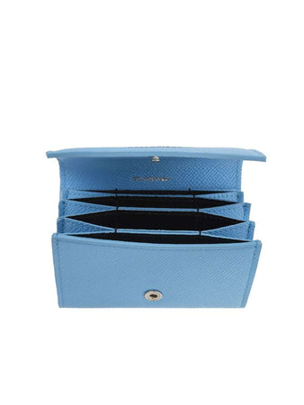 Ville Accordeon Baby Blue Leather Card Holder
