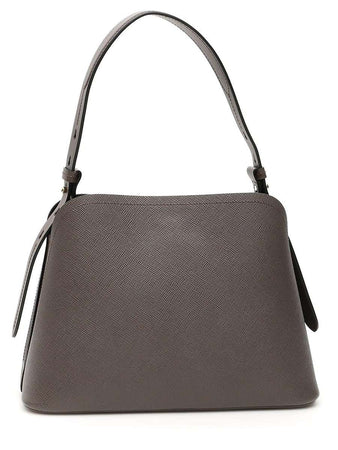 Matinée Small Smoke Leather Tote Bag back