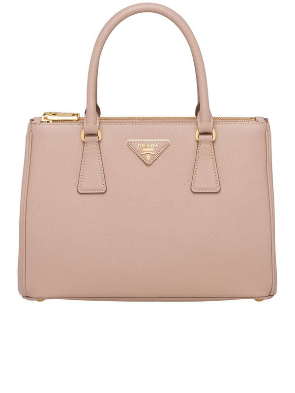 Galleria Saffiano Small Cipria Leather Tote Bag
