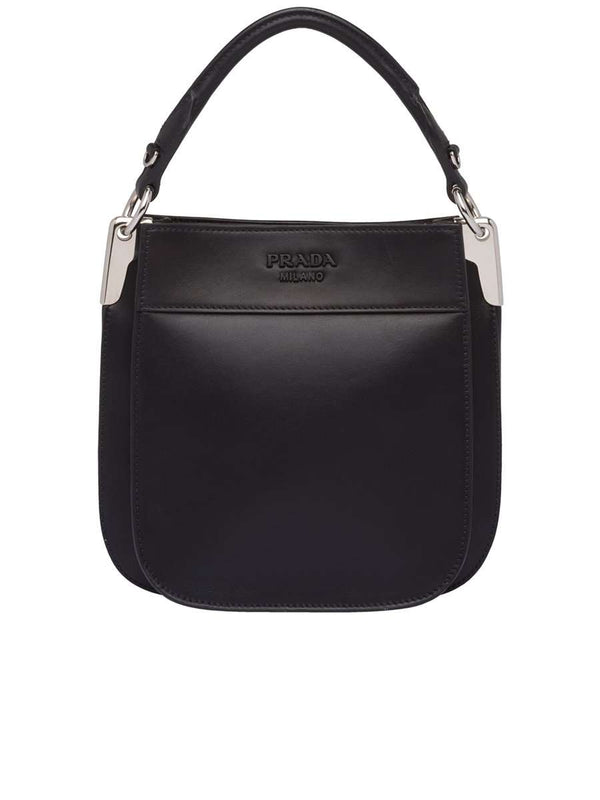 Margit Small Black Leather Shoulder Bag
