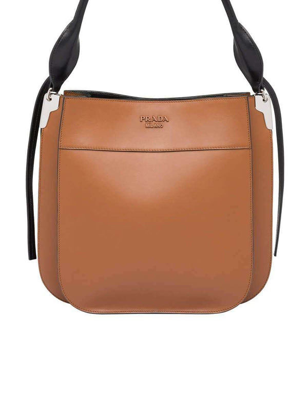 Margit Cognac Leather Shoulder Bag