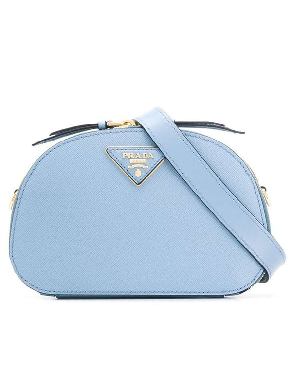 Odette Pale Blue Leather Belt Bag