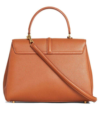 Medium 16 Bag in Tan Grained Calfskin back