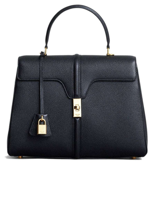 Medium 16 Bag in Black Grained Calfskin