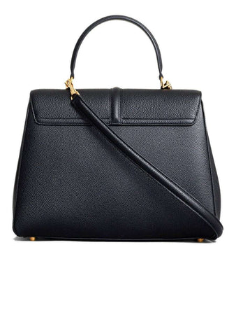 Medium 16 Bag in Black Grained Calfskin back
