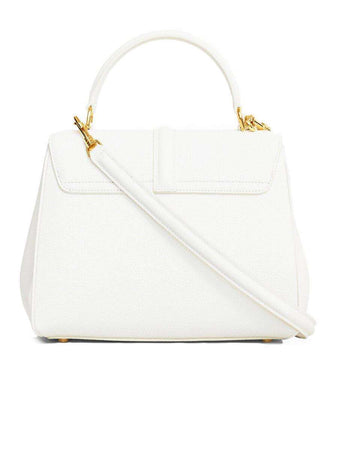 Small 16 Bag in White Grained Calfskin back