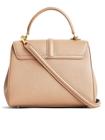 Small 16 Bag in Beige Grained Calfskin back
