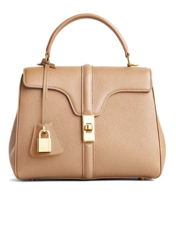 Small 16 Bag in Beige Grained Calfskin