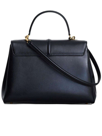 Large 16 Bag in Black Satinated Calfskin back