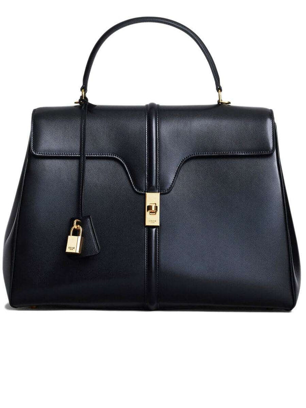Large 16 Bag in Black Satinated Calfskin
