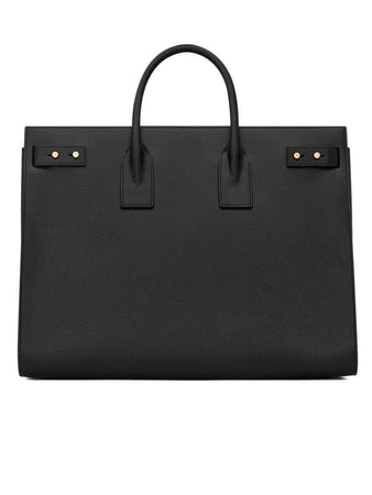 Sac De Jour Large Black Grained Leather Tote back