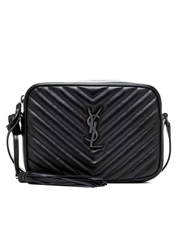 Lou Camera Bag in Quilted Leather Silver Hardware