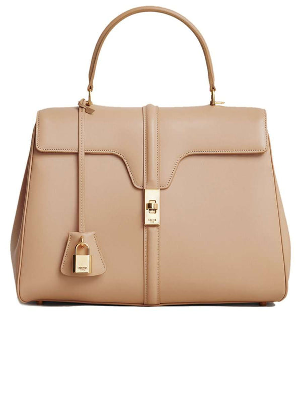 Medium 16 Bag in Beige Satinated Calfskin