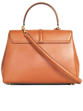 Medium 16 Bag in Tan Natural Calfskin back