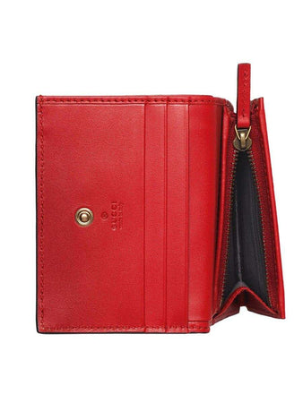 GG Supreme Card Case Wallet with Cherries zipper