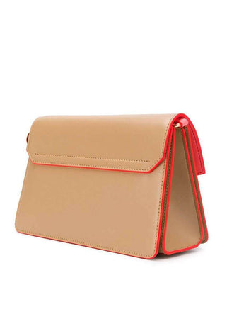 Small GV3 in Beige Camel Smooth Leather back