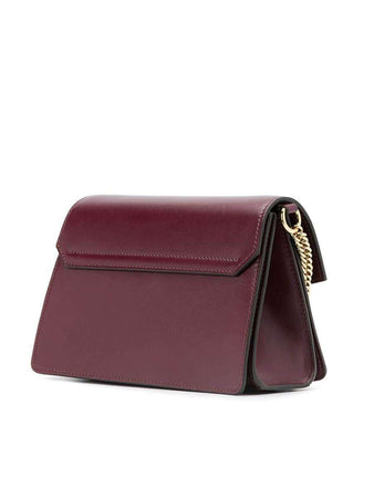 Small GV3 in Aubergine Smooth Leather back