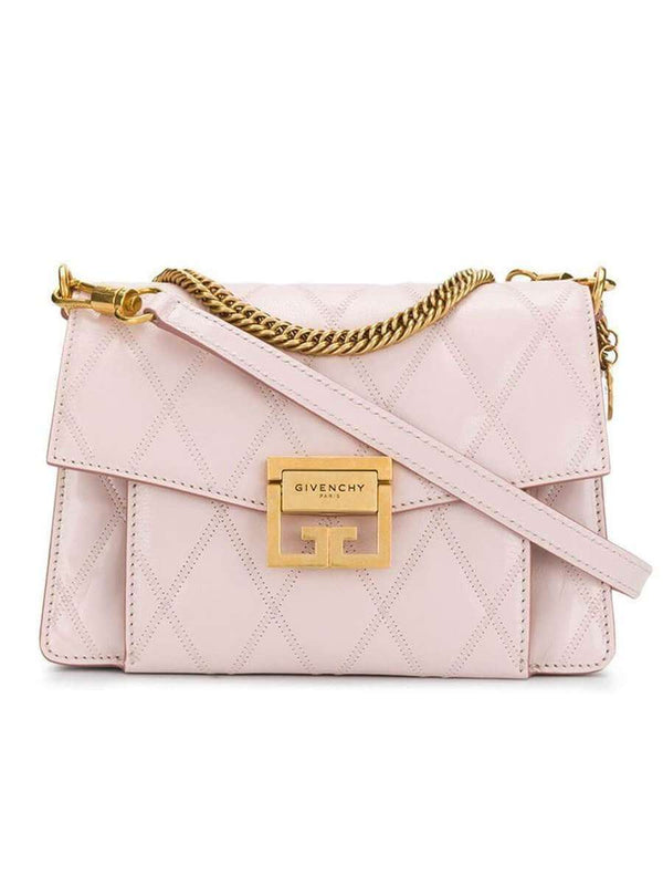 Small GV3 in Pale Pink Diamond Quilted Leather