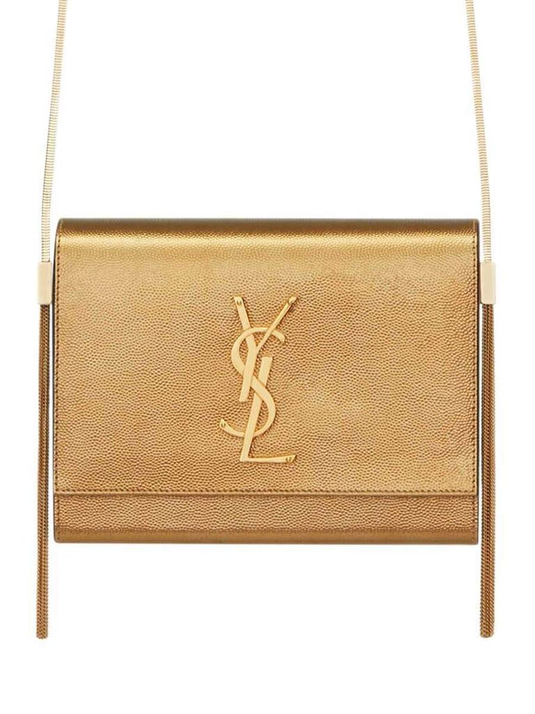 Kate Box Bag in Grain de Poudre Embossed Metallic Leather