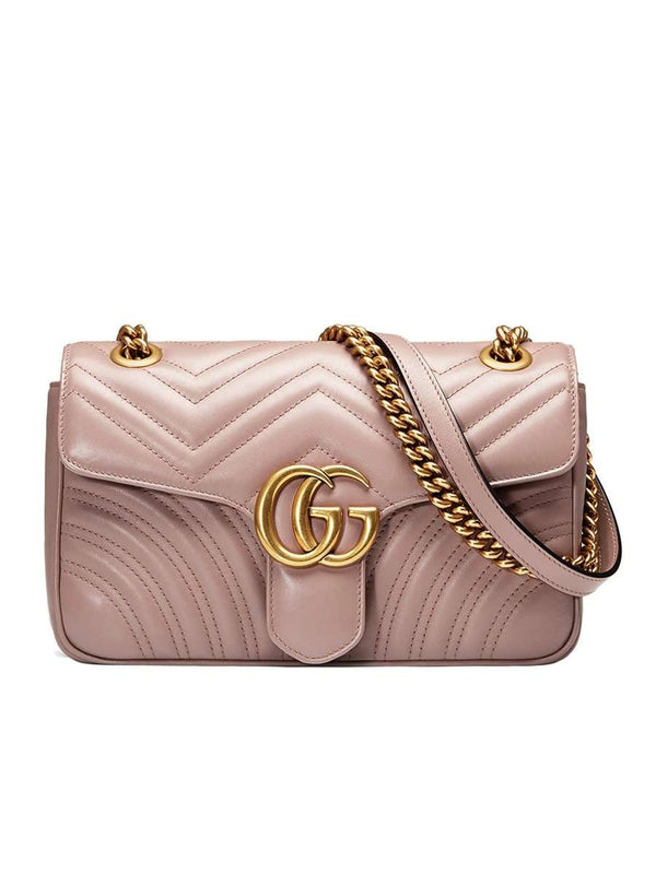 GG Marmont Mini Matelasse Dusty Pink Leather Shoulder Bag