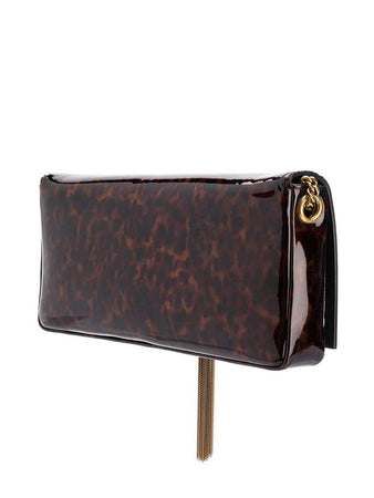 Kate 99 Shoulder Bag in Tortoise-brown Patent Leather right