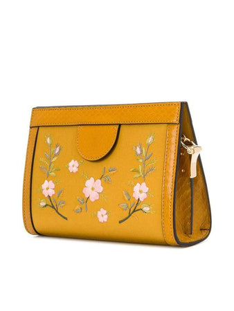 Ophidia Satin Cross-body Bag yellow back