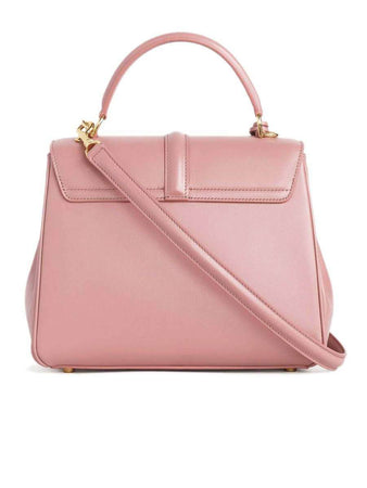 Small 16 Bag in Antique Rose Satinated Calfskin back