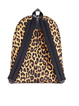 Medium Backpack in Nylon with Leopard Print back