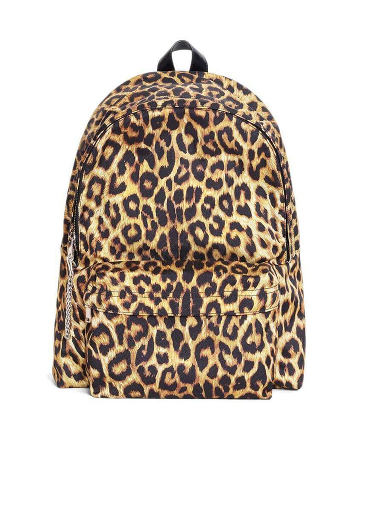 Medium Backpack in Nylon with Leopard Print