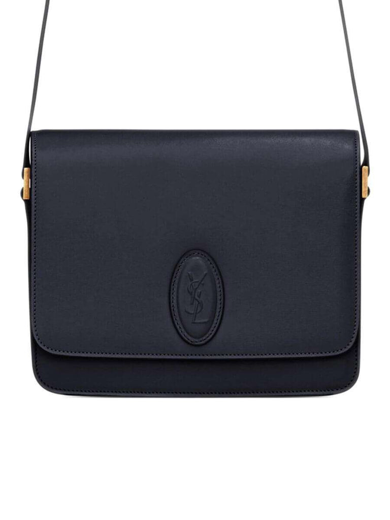 Le 61 Medium Saddle Bag in Midnight Blue Smooth Leather