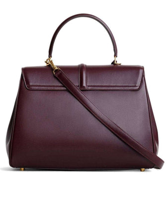 Medium 16 Bag in Satinated Burgundy Calfskin back