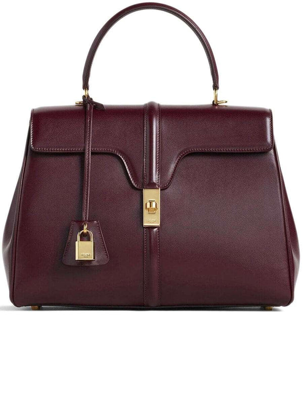 Medium 16 Bag in Satinated Burgundy Calfskin