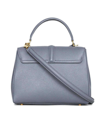 Small 16 Bag in Grey Grained Calfskin back