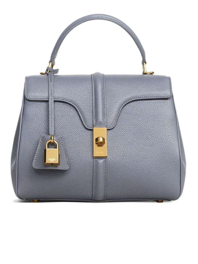 Small 16 Bag in Grey Grained Calfskin