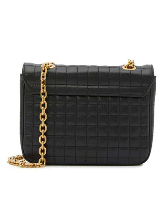 Small C Bag in Black Quilted Calfskin back