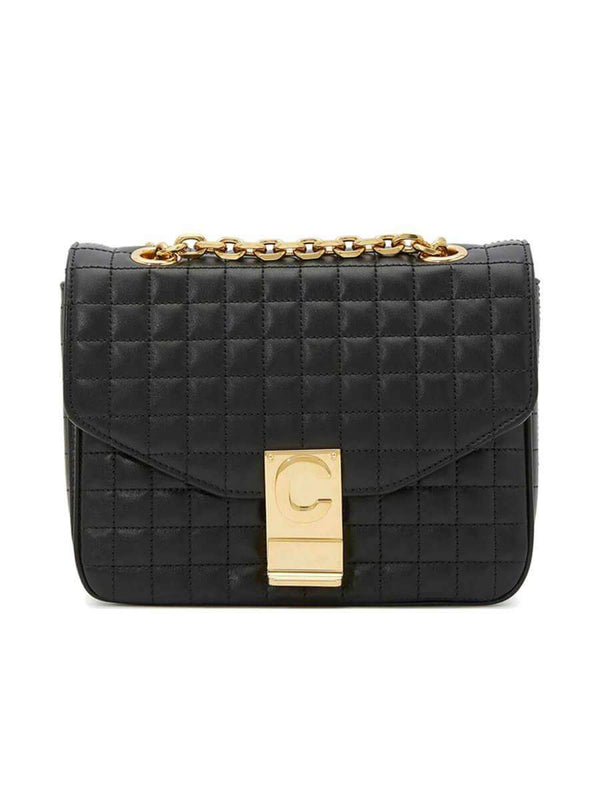 Small C Bag in Black Quilted Calfskin