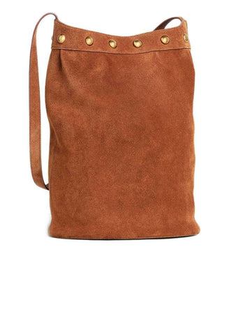 Celine Medium Soft Bucket in Suede Calfskin back