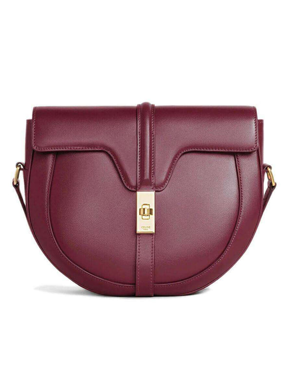 Besace 16 in Burgundy Satinated Calfskin